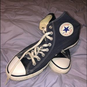 Converse Allstar navy canvas high tops
